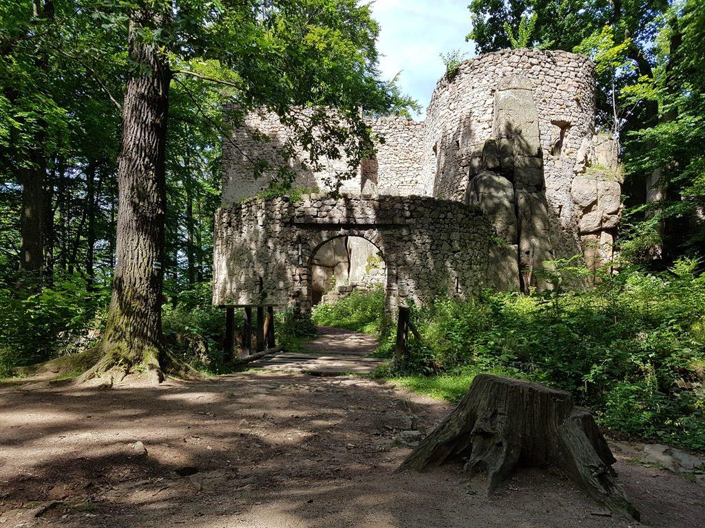 Wandeling naar een ruine in Polen
